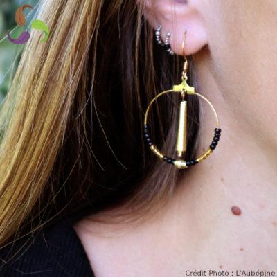 Boucles d'oreilles creoles éco-responsable