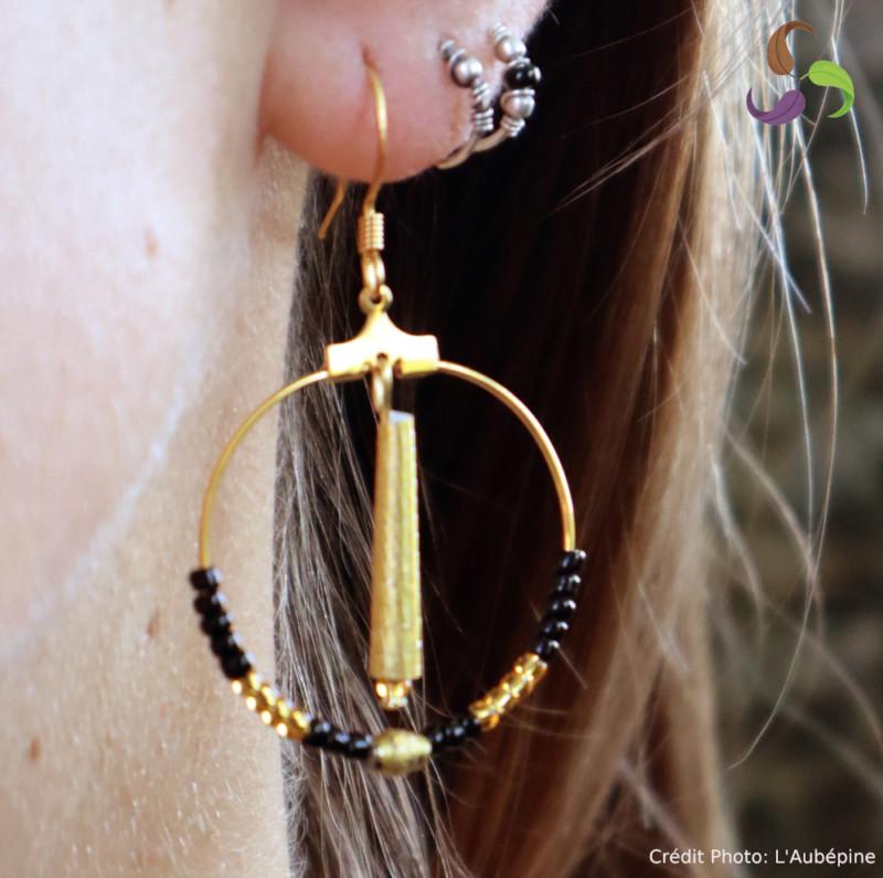Boucles d'oreilles créoles gavottes