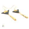 Boucles d'oreilles cuir doré