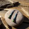 Boucles d'oreilles papier recyclé fait main en Bretagne