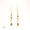 boucles d'oreilles laiton doré