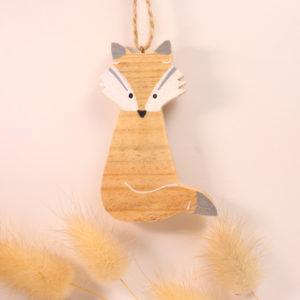 renard en bois recyclé