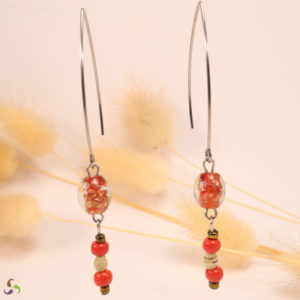 boucles upcycling rouge