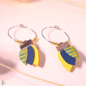 créoles bleu et jaune